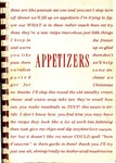 Appetizers : Appetizer Recipes from the Files of the Members of the Crippled Children's Hospital and School Auxiliary, Sioux Falls, South Dakota