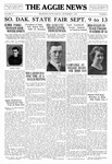The Aggie News, September 1929 by South Dakota State College