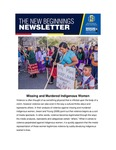 The New Beginnings Newsletter, October 2020